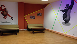 Jungle Laser Tag Party Room